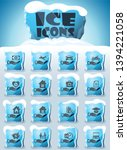 insurance vector icons frozen... | Shutterstock .eps vector #1394221058