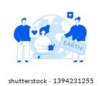vector save the planet web page ... | Shutterstock .eps vector #1394231255