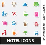 hotel icons vector | Shutterstock .eps vector #139423256