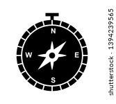 beautiful compass glyph black... | Shutterstock .eps vector #1394239565