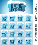 hotel room service vector icons ... | Shutterstock .eps vector #1394242532