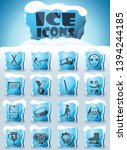 hockey vector icons frozen in... | Shutterstock .eps vector #1394244185
