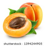Fresh Apricot Fruits. Apricot...