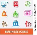 business   finance icons vector   Shutterstock .eps vector #139426382