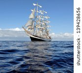 Beautiful Sailing Ship On The...