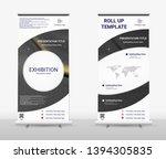 vertical roll up banner  ... | Shutterstock .eps vector #1394305835