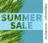 seasonal summer sale vector... | Shutterstock .eps vector #1394335862
