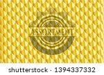 assortment gold shiny emblem.... | Shutterstock .eps vector #1394337332