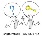 question and answer scene of 2...   Shutterstock .eps vector #1394371715