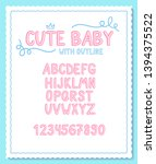 vector cute and sweet font with ... | Shutterstock .eps vector #1394375522