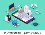 3d isometric smart appliances... | Shutterstock .eps vector #1394393078