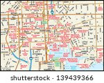 baltimore  maryland downtown map | Shutterstock .eps vector #139439366