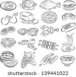 vector set of healthy foods in... | Shutterstock .eps vector #139441022