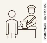 customs inspection line icon.... | Shutterstock .eps vector #1394454422