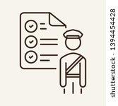 customs control line icon.... | Shutterstock .eps vector #1394454428