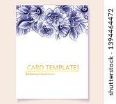 romantic wedding invitation...   Shutterstock .eps vector #1394464472