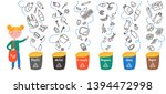 concept of separate waste... | Shutterstock .eps vector #1394472998