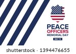 peace officers memorial day in... | Shutterstock .eps vector #1394476655