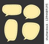 blank yellow cartoon speech... | Shutterstock .eps vector #1394489195