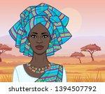 african beauty  animation...   Shutterstock .eps vector #1394507792