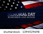 memorial day celebration with... | Shutterstock . vector #1394529698