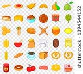 cuisine icons set. cartoon... | Shutterstock .eps vector #1394544152