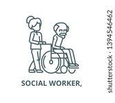 young woman  social worker  ... | Shutterstock .eps vector #1394546462