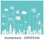 social network system and communication system info graphic, background