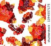 beautiful seamless floral... | Shutterstock . vector #1394557175