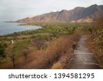panoramic view from coastal... | Shutterstock . vector #1394581295