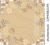 beauty silk scarf pattern with... | Shutterstock .eps vector #1394582195