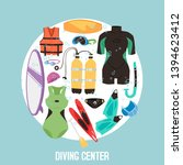 scuba diving center banner... | Shutterstock .eps vector #1394623412