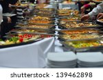 people group catering buffet... | Shutterstock . vector #139462898