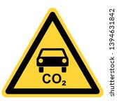 co2 car and danger sign | Shutterstock .eps vector #1394631842