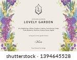 lovely garden. vector... | Shutterstock .eps vector #1394645528