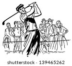 professional golfer   retro... | Shutterstock .eps vector #139465262