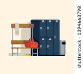 locker or changing room... | Shutterstock .eps vector #1394663798