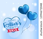 happy father's day sale... | Shutterstock .eps vector #1394672048