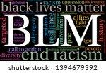 blm black lives matter word... | Shutterstock .eps vector #1394679392