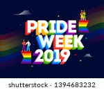 3d text of pride week 2019 with ... | Shutterstock .eps vector #1394683232