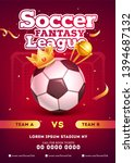 soccer fantasy league template... | Shutterstock .eps vector #1394687132