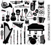 music instruments | Shutterstock .eps vector #139469348
