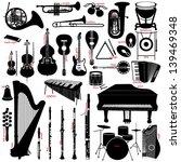 music instruments   Shutterstock .eps vector #139469348