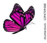 beautiful pink monarch...   Shutterstock . vector #1394709488