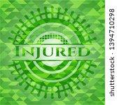 injured green mosaic emblem....   Shutterstock .eps vector #1394710298
