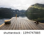 Pier at Hildal Camping, next to Odda, Norway, Scandinavia.