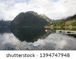 Viewpoint at Hildal Camping, next to Odda, Norway, Scandinavia.