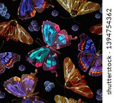 embroidery butterflies and...   Shutterstock .eps vector #1394754362