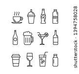 vector illustration for drinks  ... | Shutterstock .eps vector #1394758028