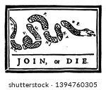 join or die this flag has snake ... | Shutterstock .eps vector #1394760305